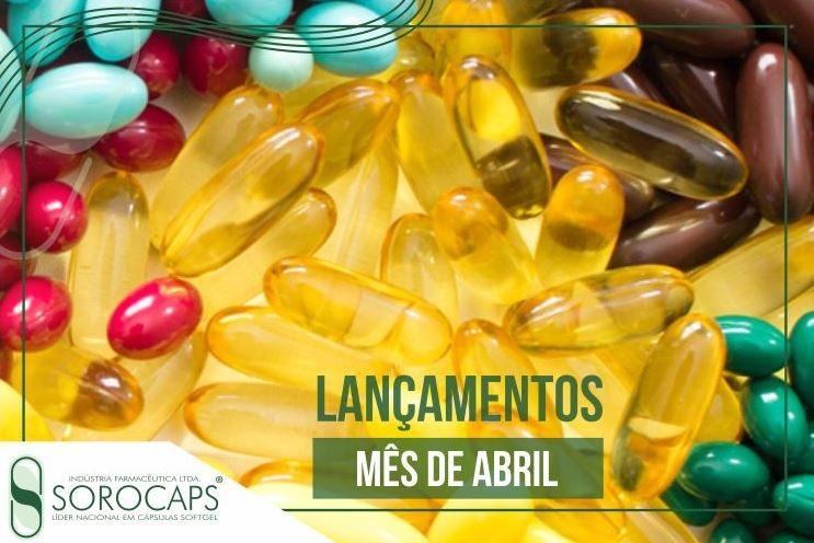 Sorocaps Indústria Farmacêutica lançamentos-abril-blog Lançamentos de abril auxiliam na pele, produção de energia e sistema nervoso central